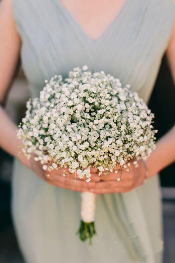 Hoa cưới hoa baby trắng