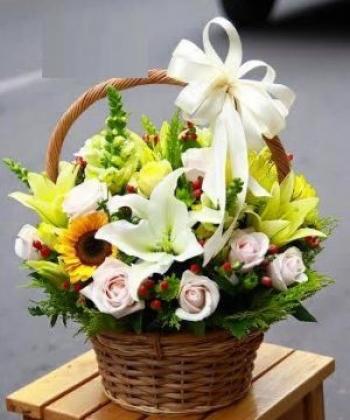 giỏ hoa tươi HSG002