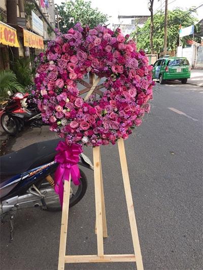 Hoa viếng đám tang HS015