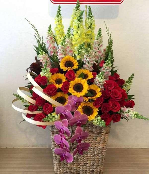 giỏ hoa tươi HSG004