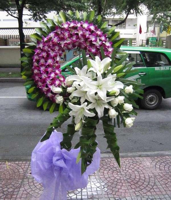 Hoa viếng đám tang HS012