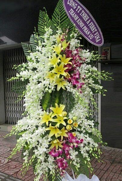 Hoa viếng tang lễ HS002