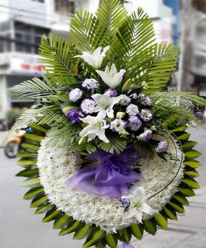 Hoa viếng đám tang HS021