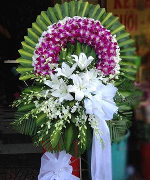 Hoa viếng đám tang HS022