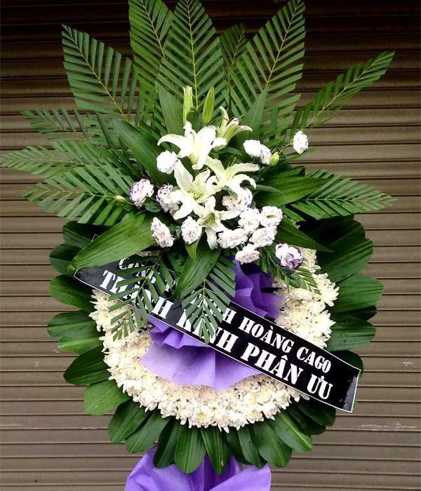 Hoa viếng đám tang HS013