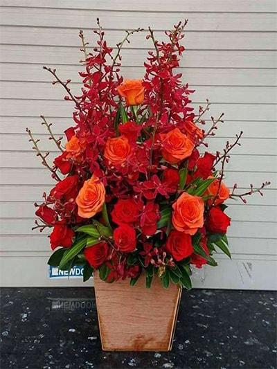 Hộp hoa tươi HSH006