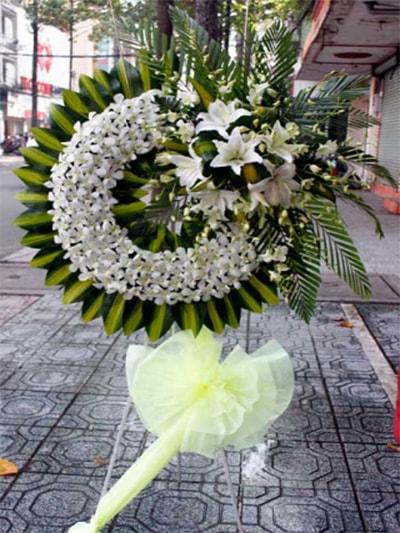 Hoa viếng đám tang HS009