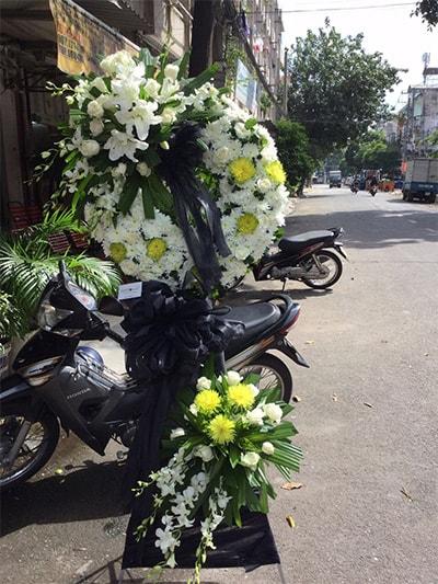 Hoa viếng đám tang HS016