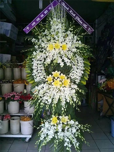 Hoa viếng đám tang HS007