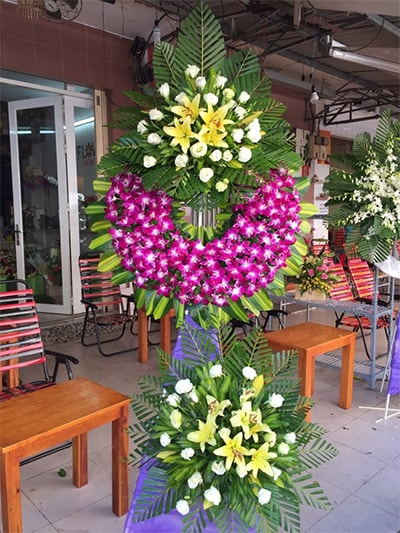 Hoa viếng đám tang HS019