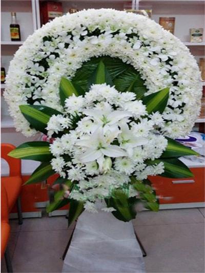 Hoa viếng đám tang HS014