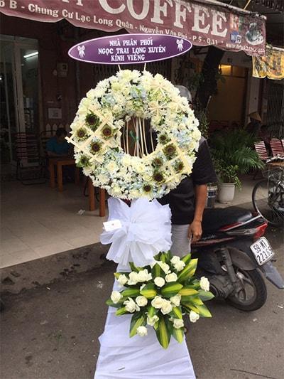 Hoa viếng đám tang HS027