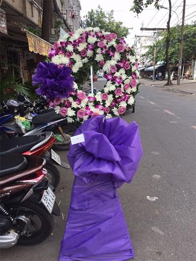 Hoa viếng đám tang HS010