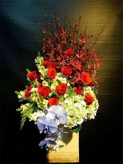 Hộp hoa tươi HSH005