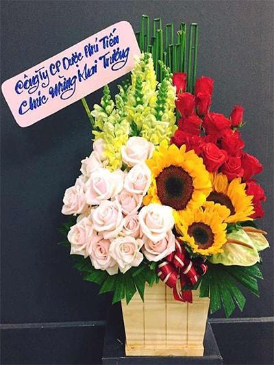 Hộp hoa tươi HSH002
