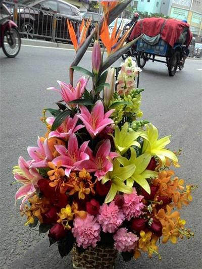 giỏ hoa tươi HSG007